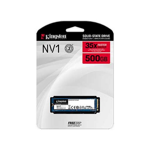 KINGSTON - SSD 500GB M.2 2280 NVME PCIE 2100/1700MB/SEG (SNVS/500G)
